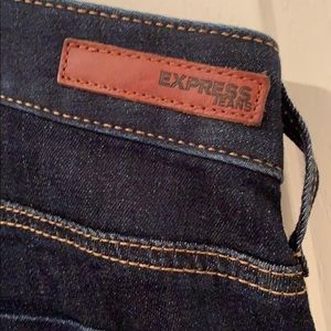 Express Barely Bootcut dark rinse jeans